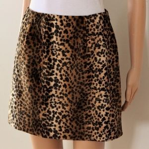 Hugo Buscati Collection Skirt 6 Leopard faux fur